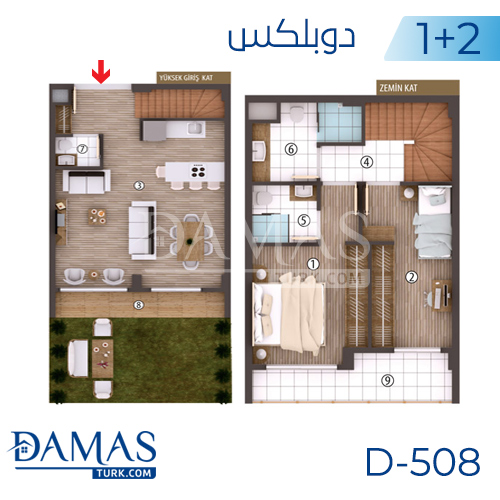 Damas Project D-508 in kocaeli - Floor plan picture 02