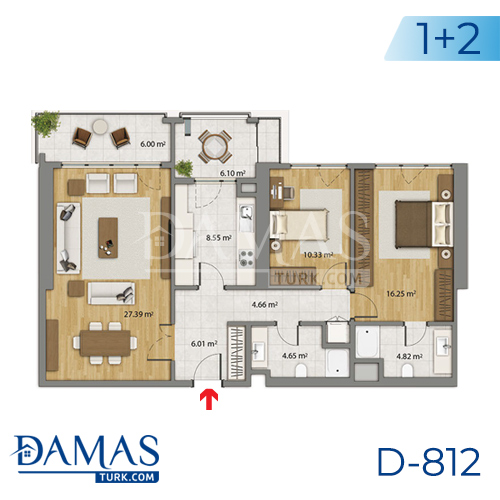 Damas Project D-806 in Istanbul - Floor plan picture 02