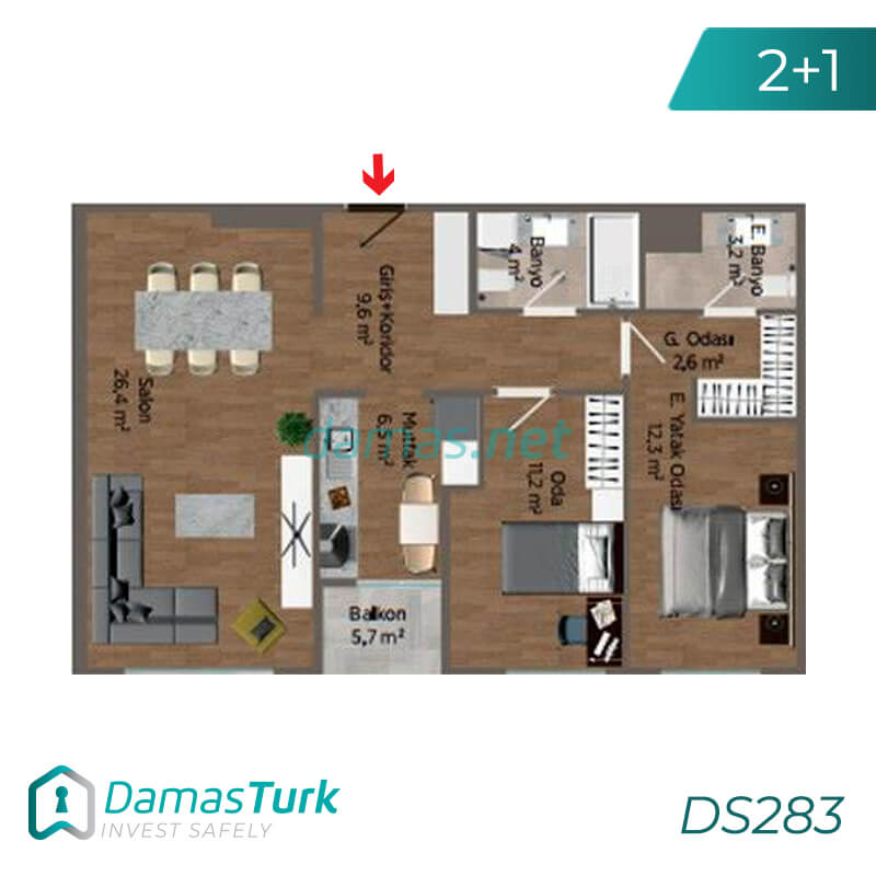 Ready to Move investment apartment complex with a magnificent sea view in Istanbul European, of Buyukcekmece area DS283 || damas.net 01
