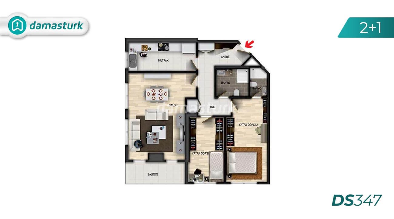 Apartments for sale in Turkey - Istanbul - the complex DS347 || damasturk Real Estate Company 02