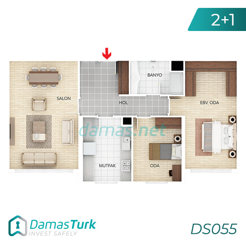 Istanbul Property - Turkey Real Estate - DS055 || damas.net 01