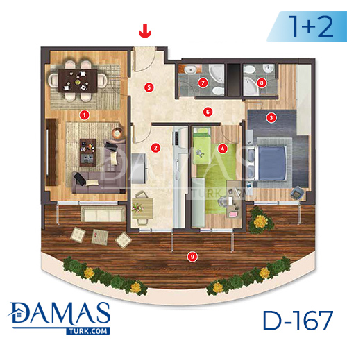 Damas Project D-167 in Istanbul - Floor plan picture  02