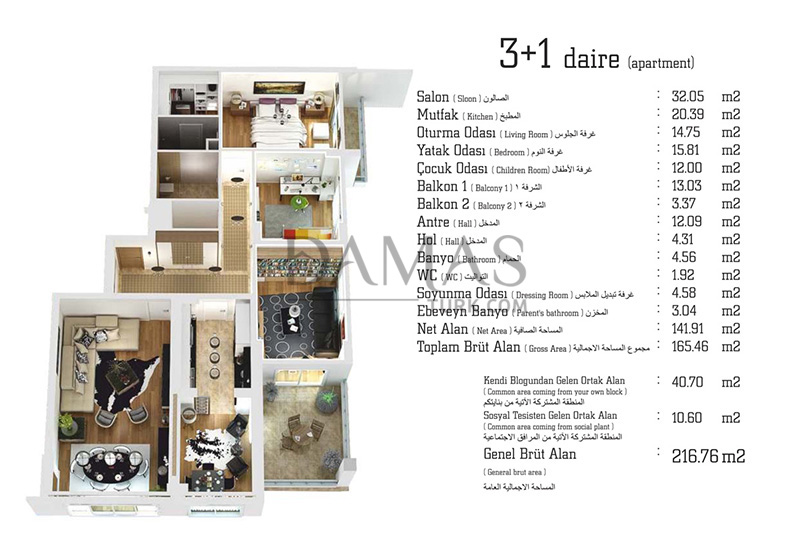 Damas 405 Project in Trabzon - Floor Plan 02