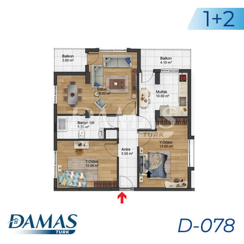 Damas Project D-078 in Istanbul - Floor Plan picture 01
