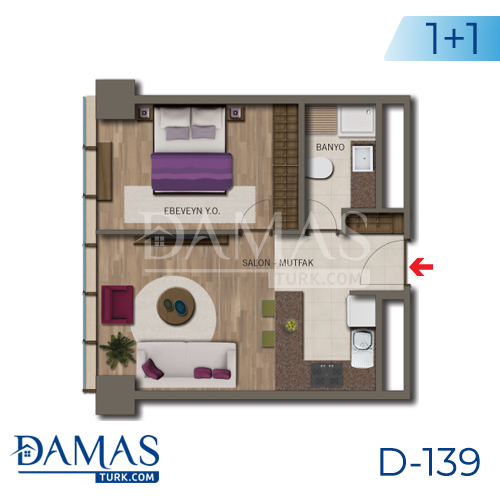 Damas Project D-138 in Istanbul - Floor plan picture 02
