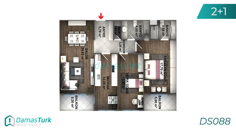 Istanbul Property - Turkey Real Estate - DS088 || damas.net 02