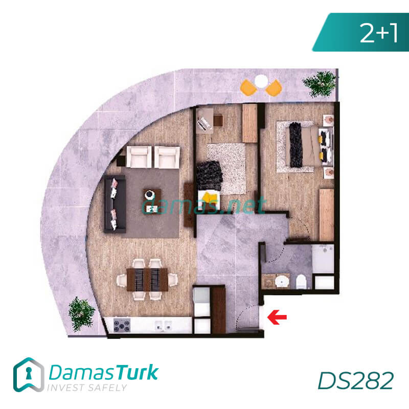 Investment complex ready for housing and installment in the European area, Istanbul zeytinburnu region DS282 || damas.net 03