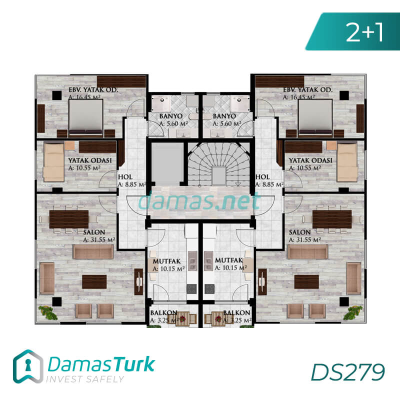 Apartments complex investment is ready to live freely with views of Istanbul European büyükçekmece area DS279 || damas.net 01