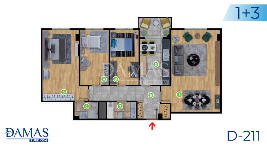 Damas Project D-2181 in Istanbul - Floor plan picture  02