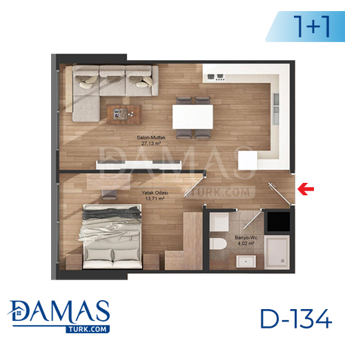 Damas Project D-134 in Istanbul - Floor plan picture 02