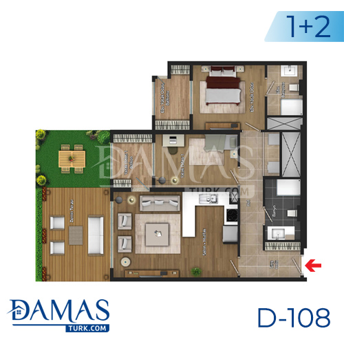 Damas Project D-108 in Istanbul - Floor plan picture 02