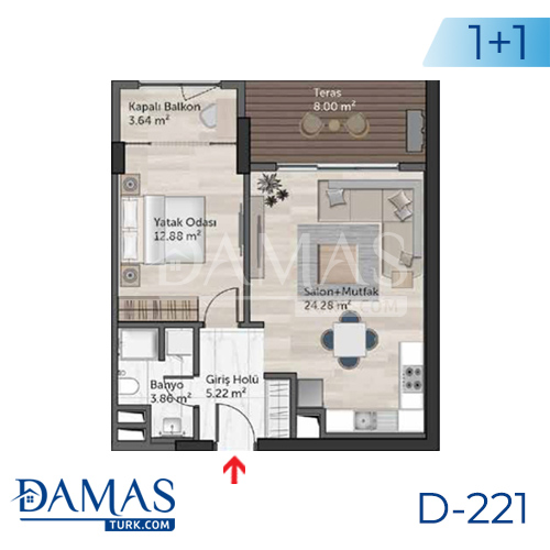 Damas Project D-221 in Istanbul - Floor plan picture  02