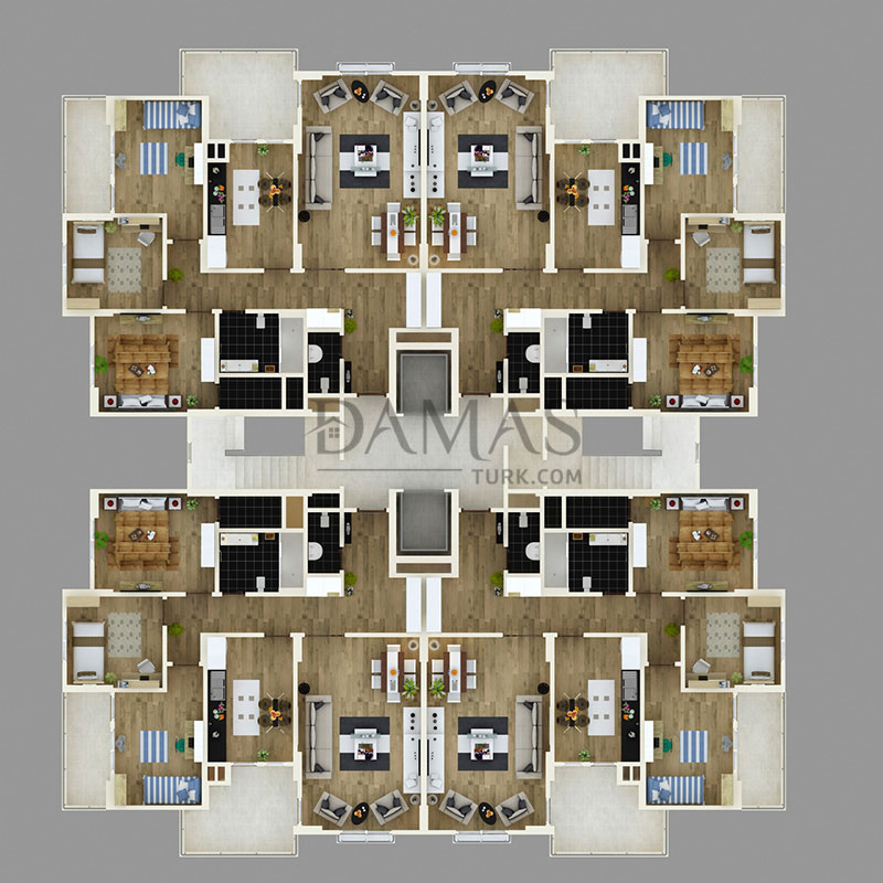 Damas 404 Project in Trabzon - Floor Plan 02