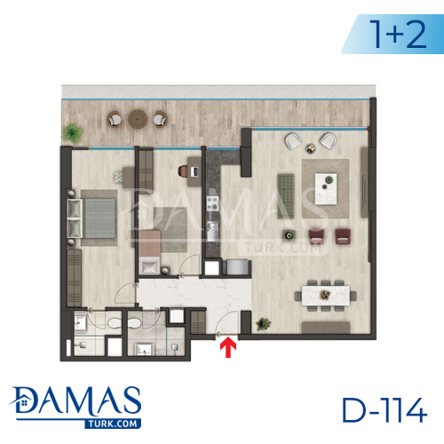 Damas Project D-114 in Istanbul - Floor plan picture 02