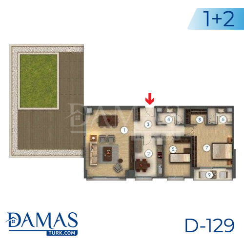 Damas Project D-129 in Istanbul - Floor plan picture 02