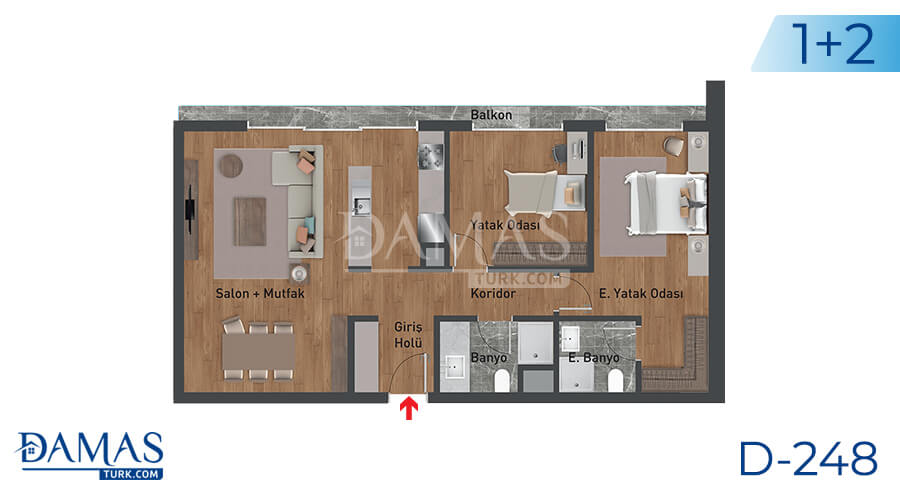 Damas Project D-248 in Istanbul - Floor plan picture 02