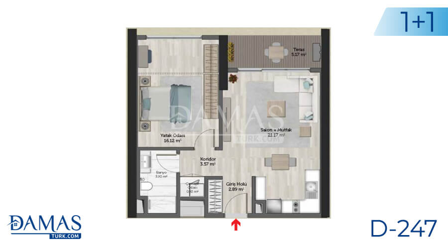 Damas Project D-247 in Istanbul - Floor plan picture 02