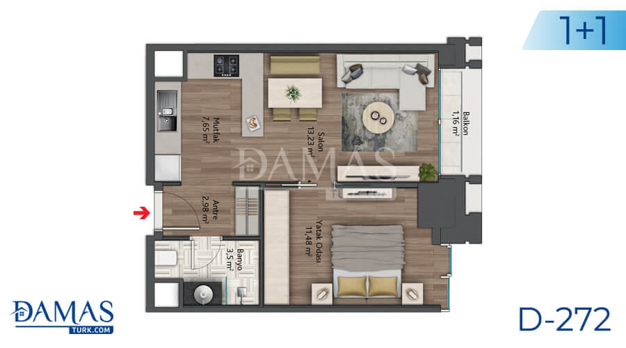 Damas Project D-272 in Istanbul - Floor plan picture 02