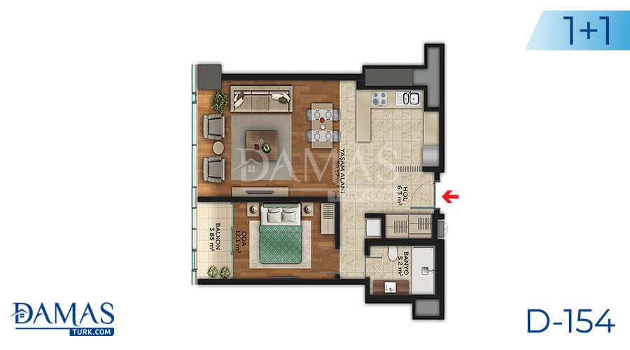Damas Project D-154 in Istanbul - Floor plan picture 02