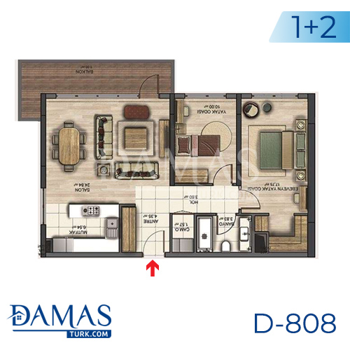 Damas Project D-808 in Istanbul - Floor plan picture 02