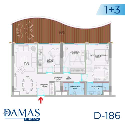 Damas Project D-186 in Istanbul - Floor plan picture  02