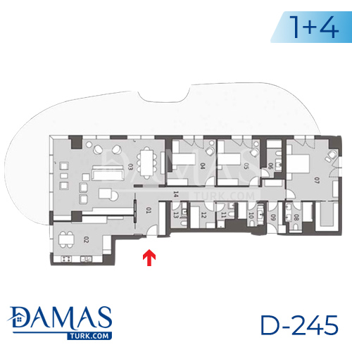 Damas Project D-245 in Istanbul - Floor plan picture  02