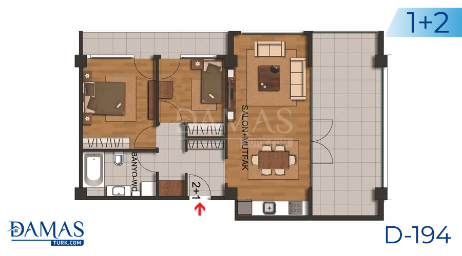 Damas Project D-194 in Istanbul - Floor plan picture  02