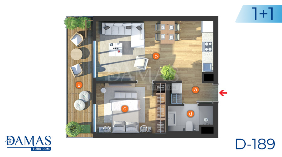 Damas Project D-189 in Istanbul - Floor plan picture  02