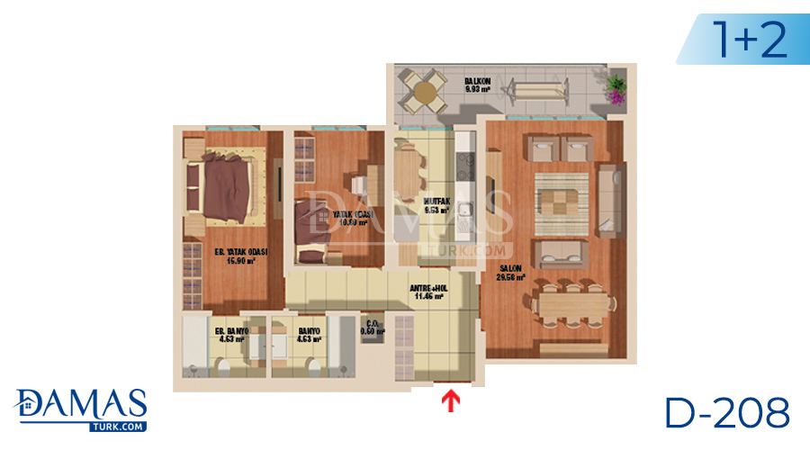 Damas Project D-208 in Istanbul - Floor plan picture  02
