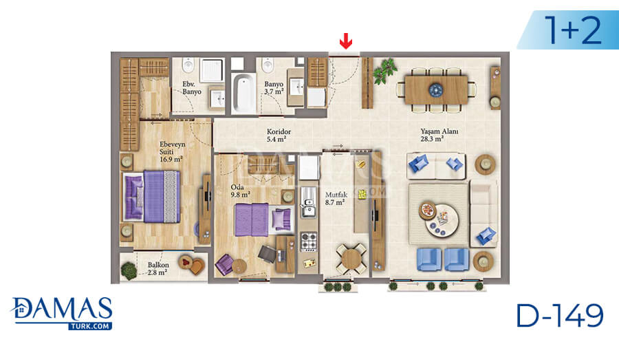 Damas Project D-149 in Istanbul - Floor plan picture 02