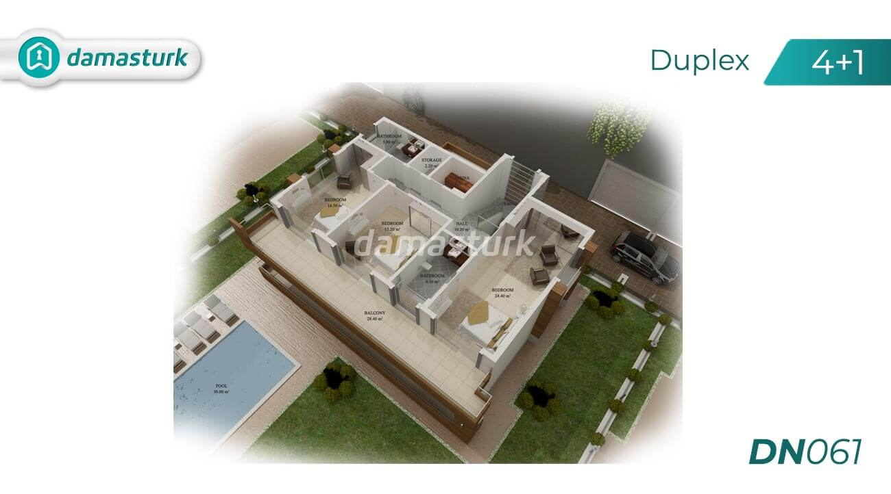 Apartments for sale in Antalya - Turkey - Complex DN061  || damasturk Real Estate Company 02
