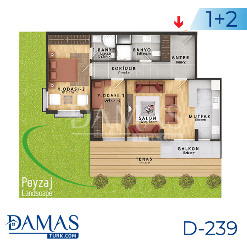 Damas Project D-239 in Istanbul - Floor plan picture  02