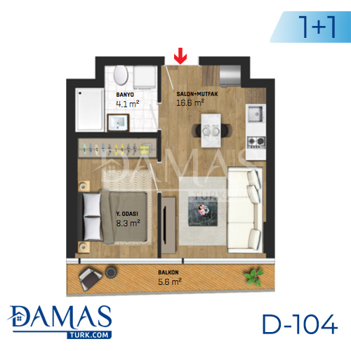 Damas Project D-104 in Istanbul - Floor plan picture 02