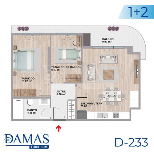 Damas Project D-233 in Istanbul - Floor plan picture  02