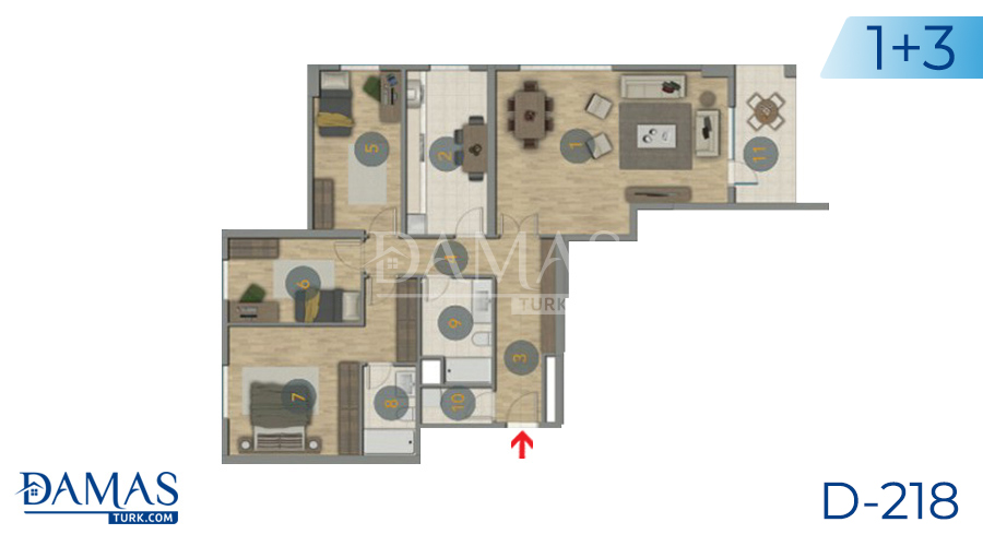Damas Project D-218 in Istanbul - Floor plan picture  02
