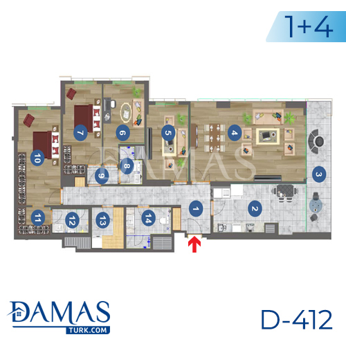 Damas Project D-412 in Trabzon - Floor plan picture 02