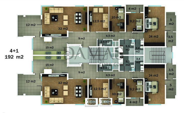 Damas 402 Project in Trabzon - Floor Plan 02