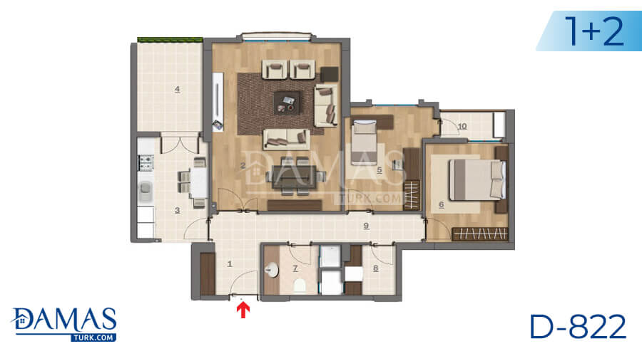 Damas Project D-822 in Istanbul - Floor plan picture 02