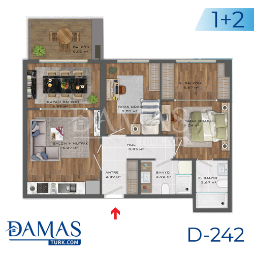 Damas Project D-242 in Istanbul - Floor plan picture  02