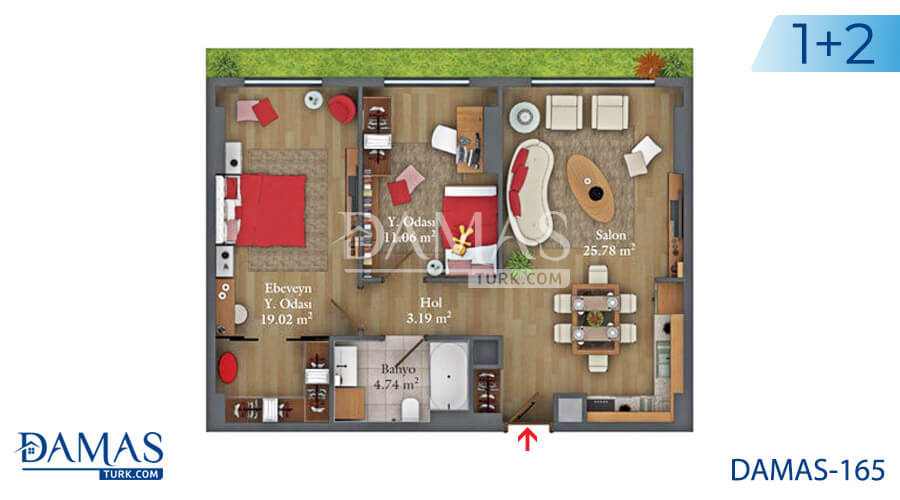 Damas Project D-165 in Istanbul - Floor plan picture  02