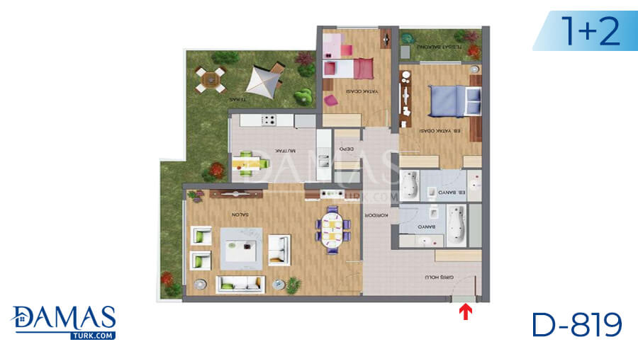 Damas Project D-819 in Istanbul - Floor plan picture 02