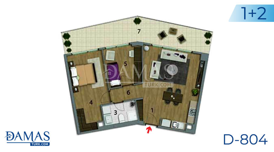 Damas Project D-804 in Istanbul - Floor plan picture 02