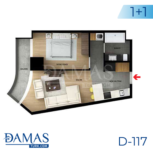 Damas Project D-117 in Istanbul - Floor plan picture 02
