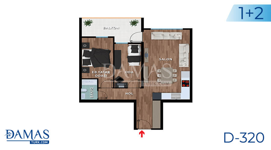 Damas Project D-319 in Bursa - Floor plan picture 02