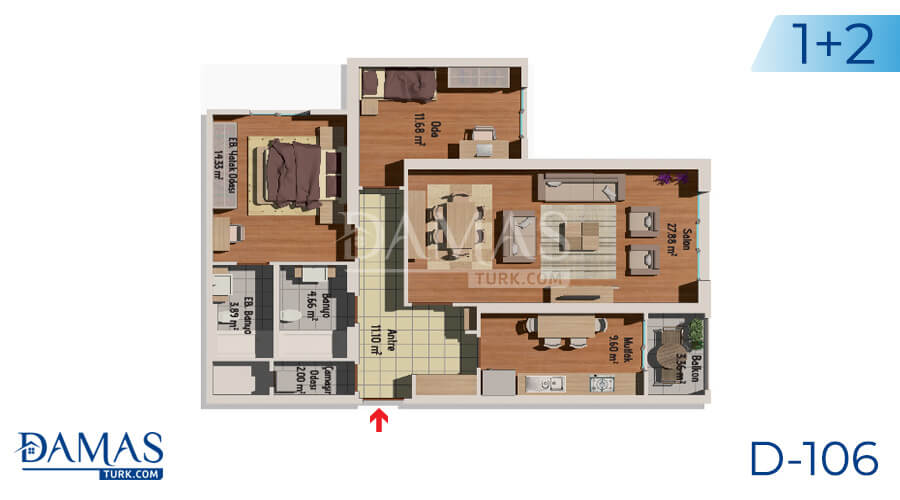 Damas Project D-106 in Istanbul - Floor plan picture 02