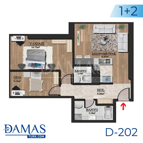 Damas Project D-202 in Istanbul - Floor plan picture  02