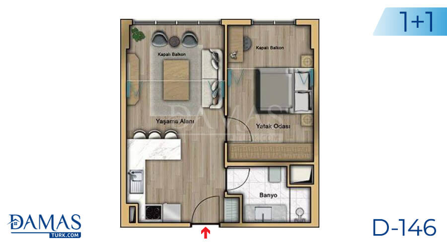 Damas Project D-146 in Istanbul - Floor plan picture 02