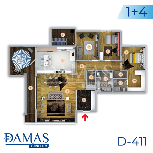 Damas Project D-411 in Trabzon - Floor plan picture 02