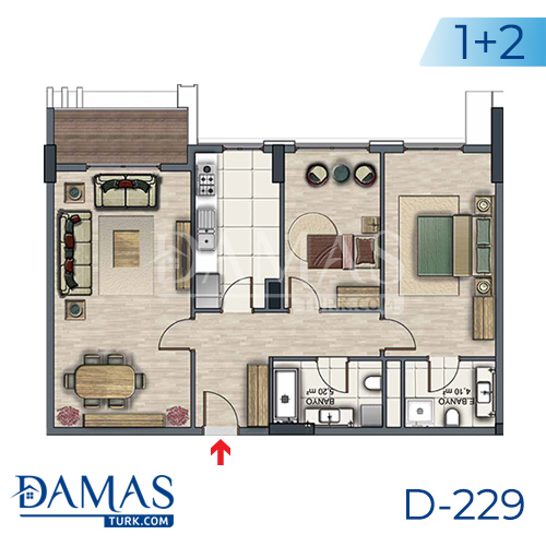 Damas Project D-229 in Istanbul - Floor plan picture  02