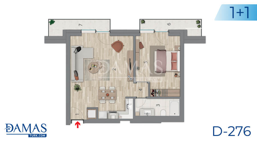 Damas Project D-276 in Istanbul - Floor plan picture 02